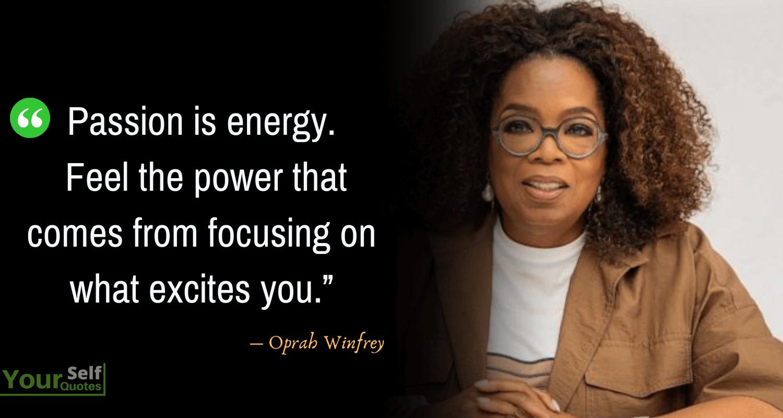 Kutipan Oprah Winfrey tentang Gairah