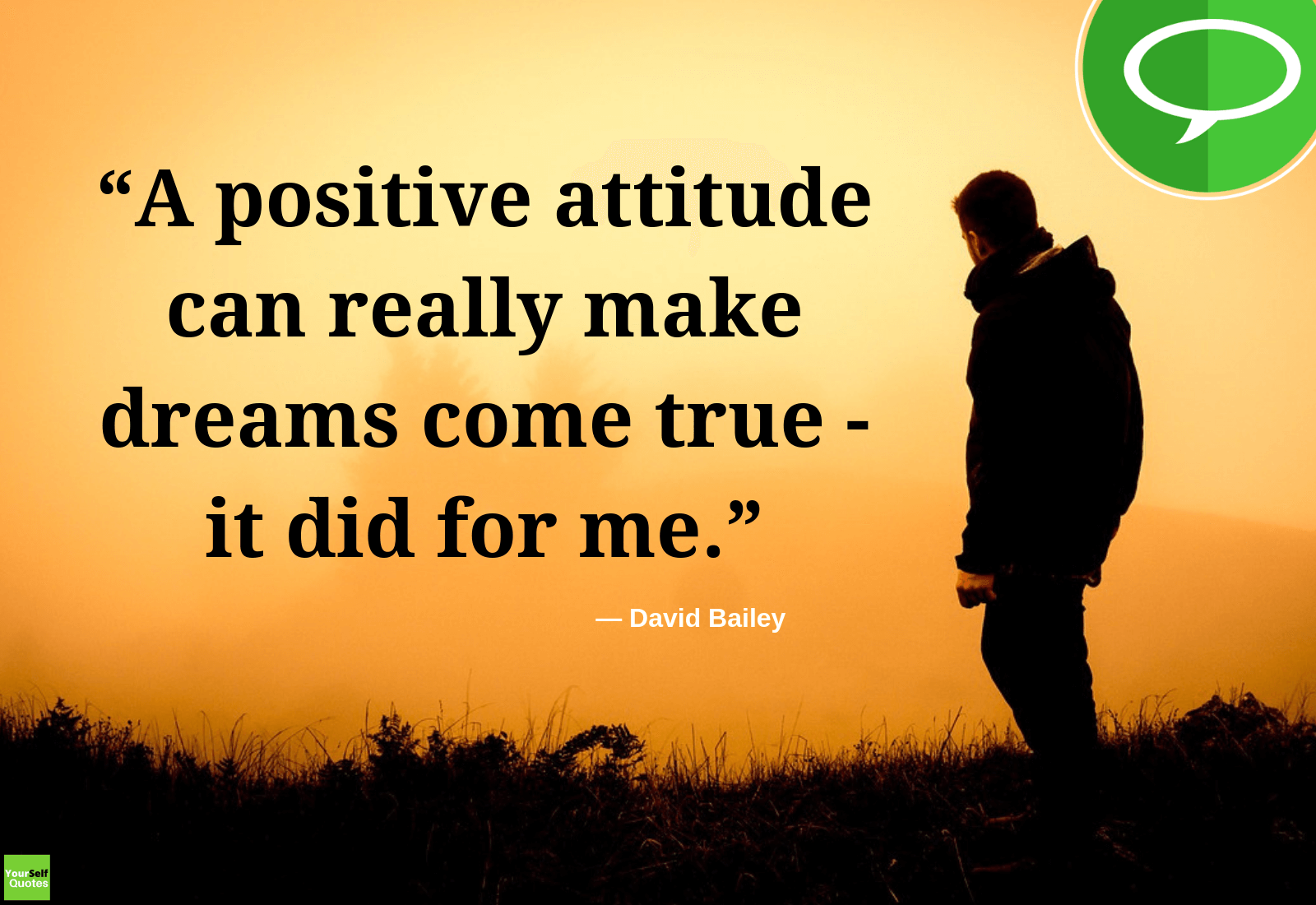 Positive Attitude Quote by David Bailey