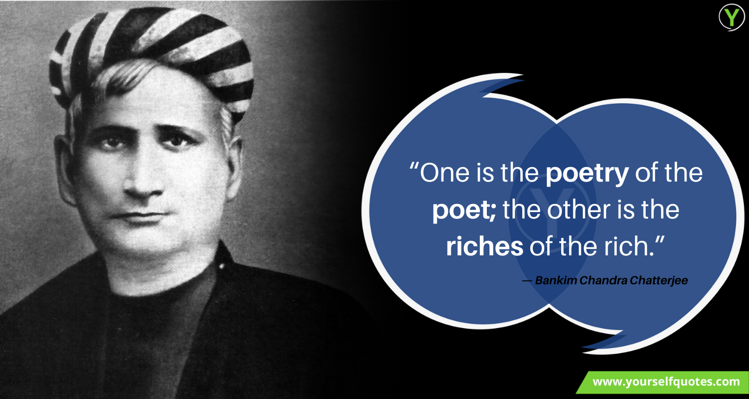 Quotes By Bankim Chandra Chatterjee Images
