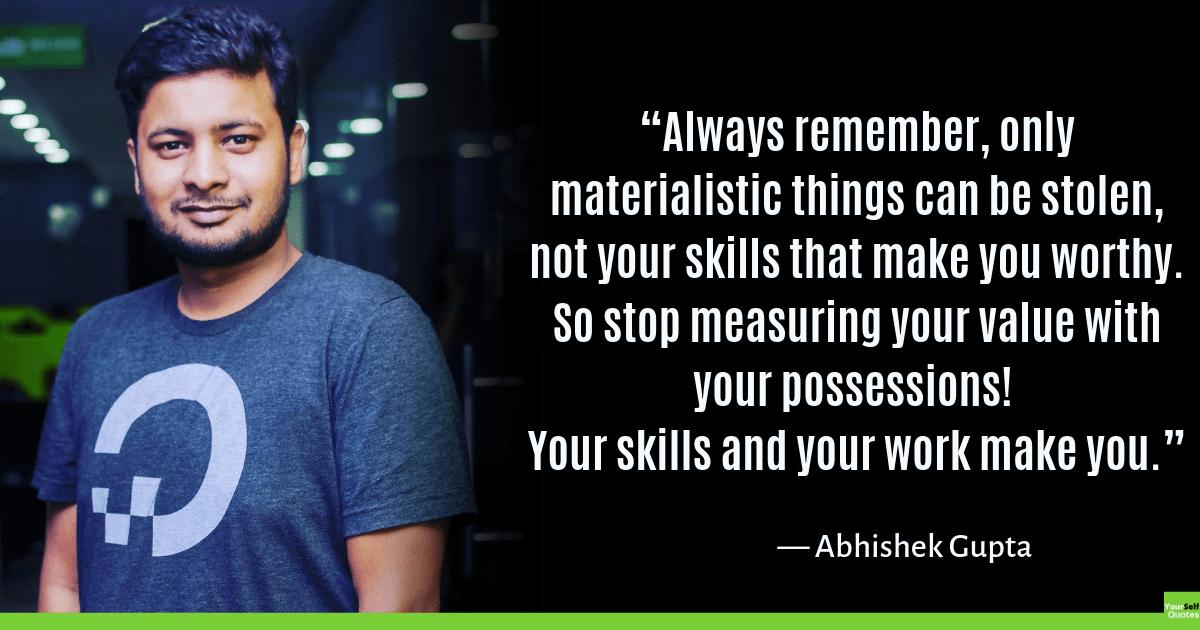Quotes by Abhishek Gupta Images