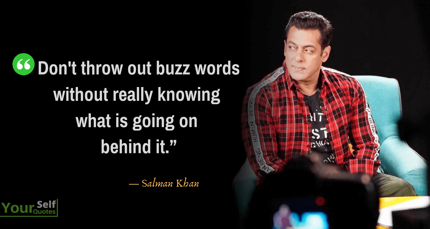 Quotes by Salman Khan