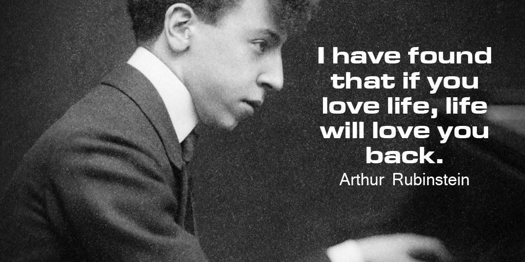 Quotes on Love by Arthur Rubinstein