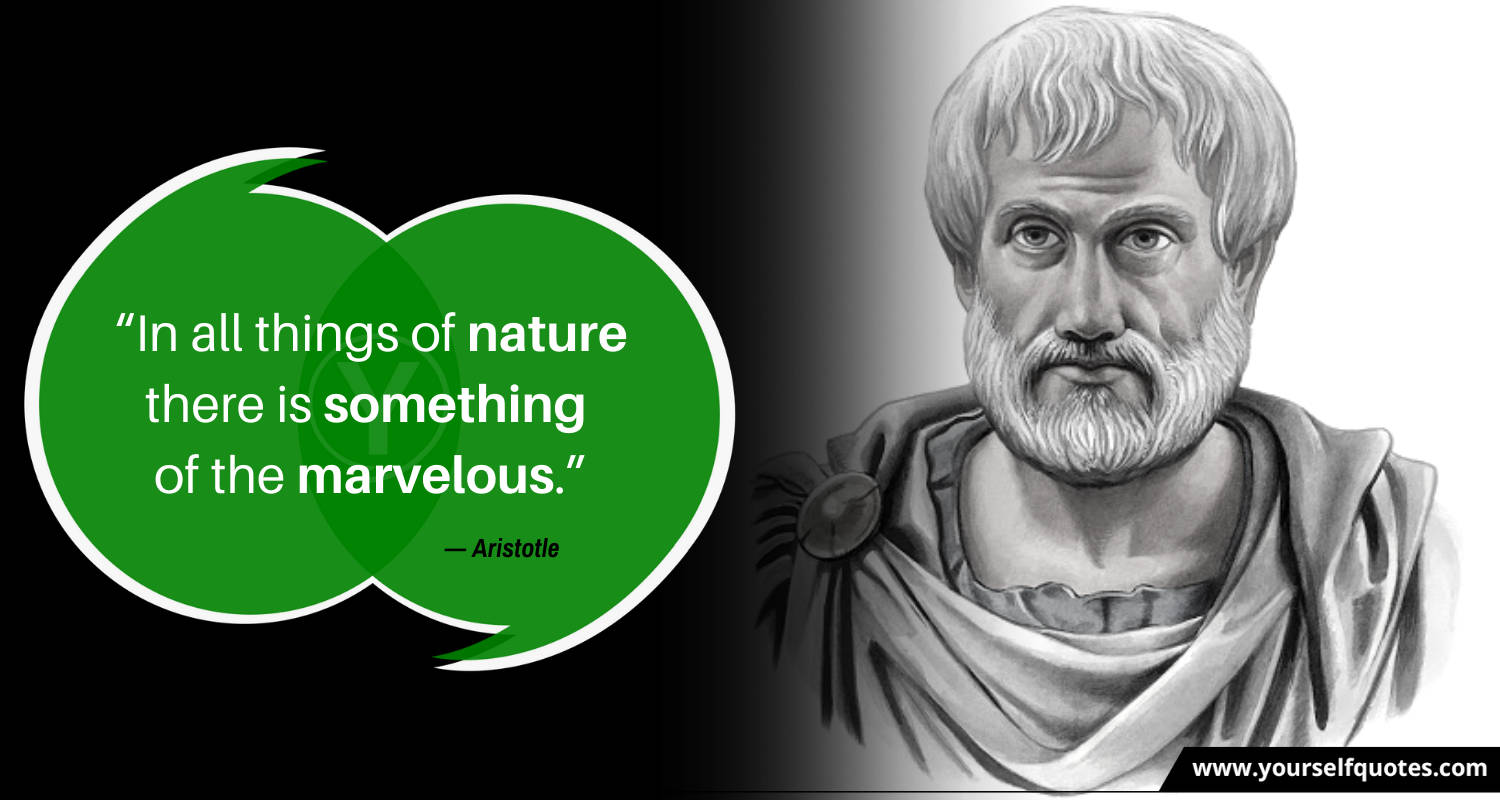 Quotes on Nature by Aristotle