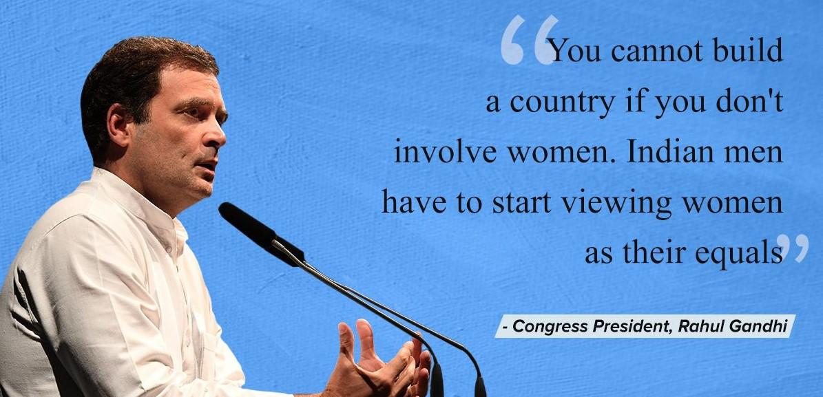 Kutipan Rahul Gandhi tentang wanita