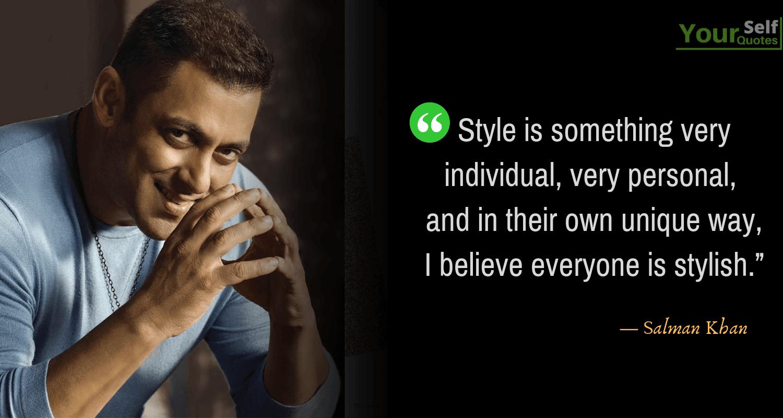Salman Khan Quotes Sayings