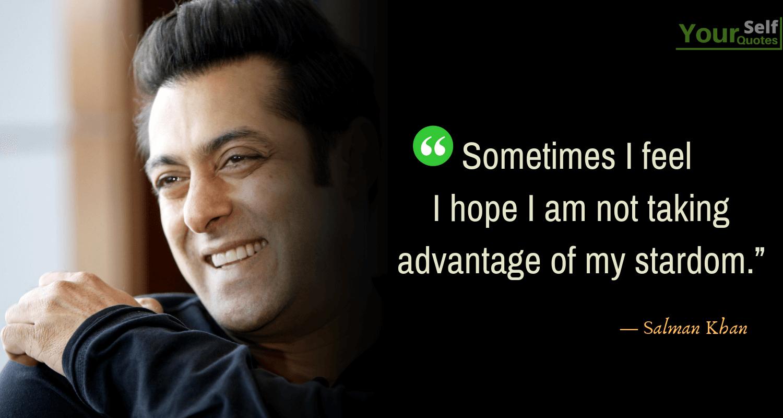 Salman Khan Quote Images