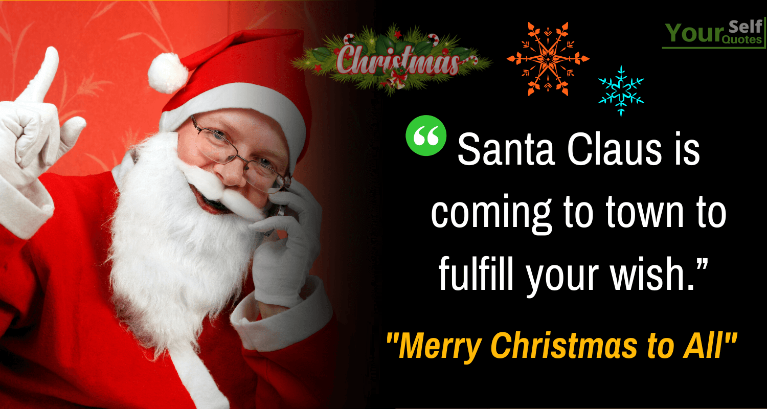 Santa Quotes for Merry Christmas