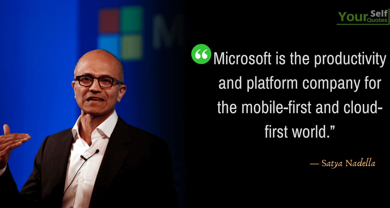 Satya Nadella Microsoft Quotes