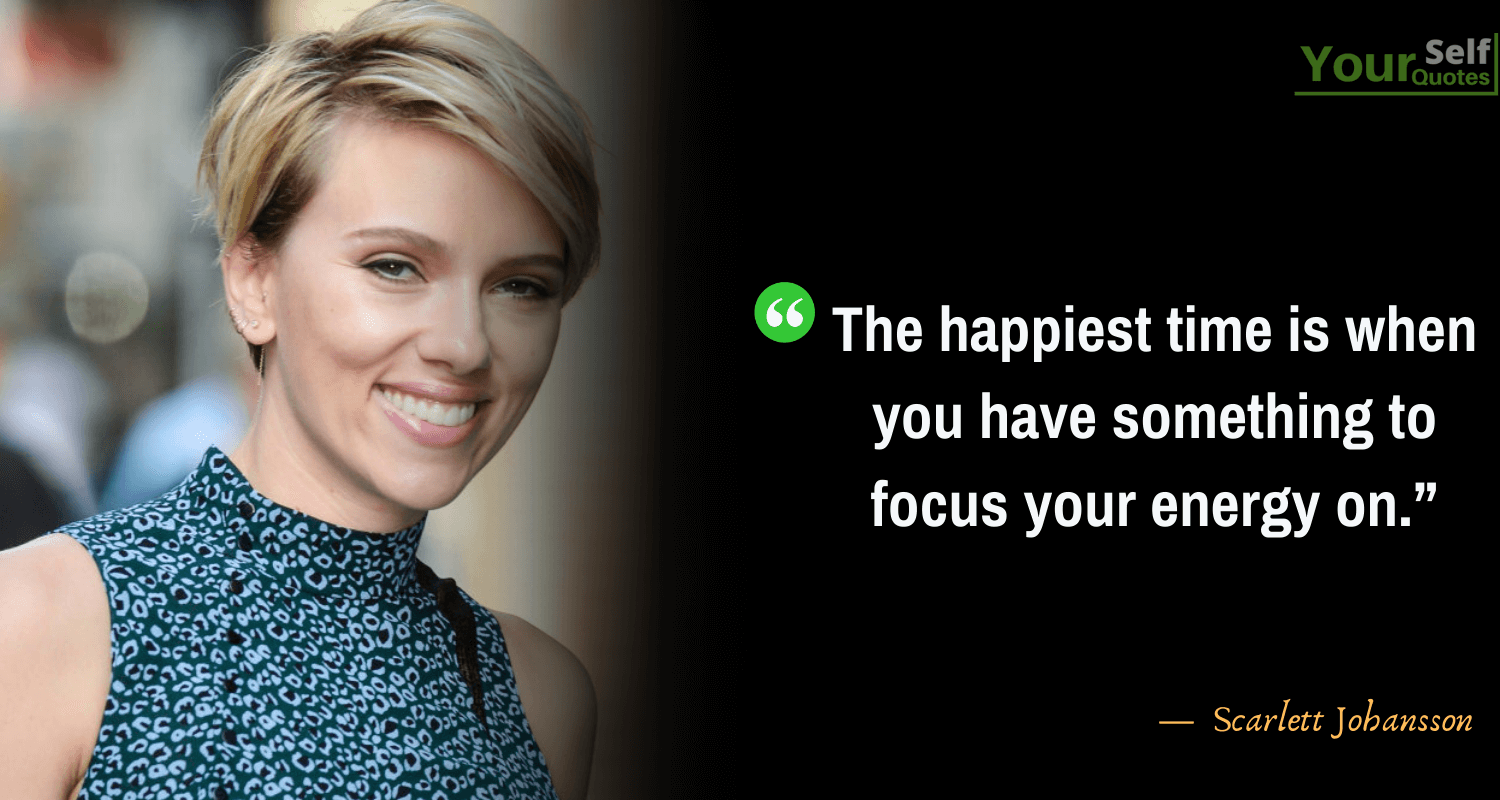Happiness Quotes by scarlett johansson