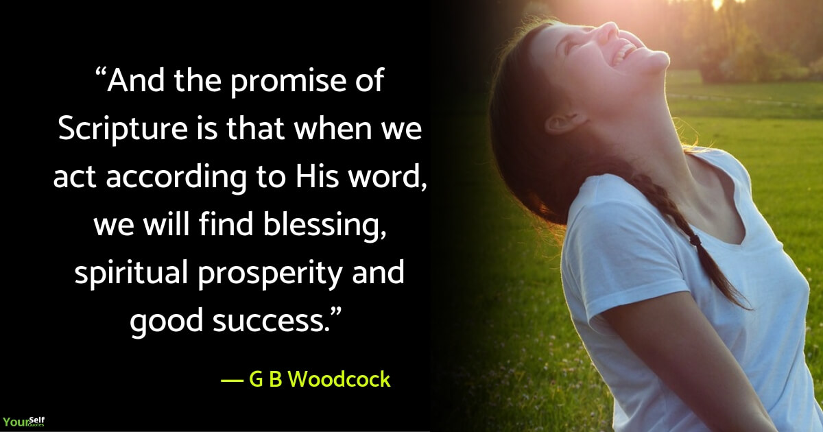 Spiritual Quotes by G B Woodcock