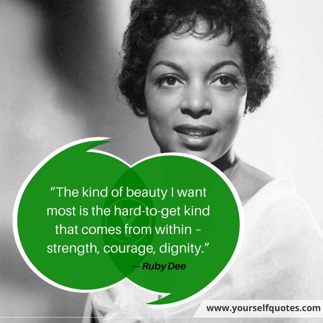 Strength Quotes by Ruby Dee