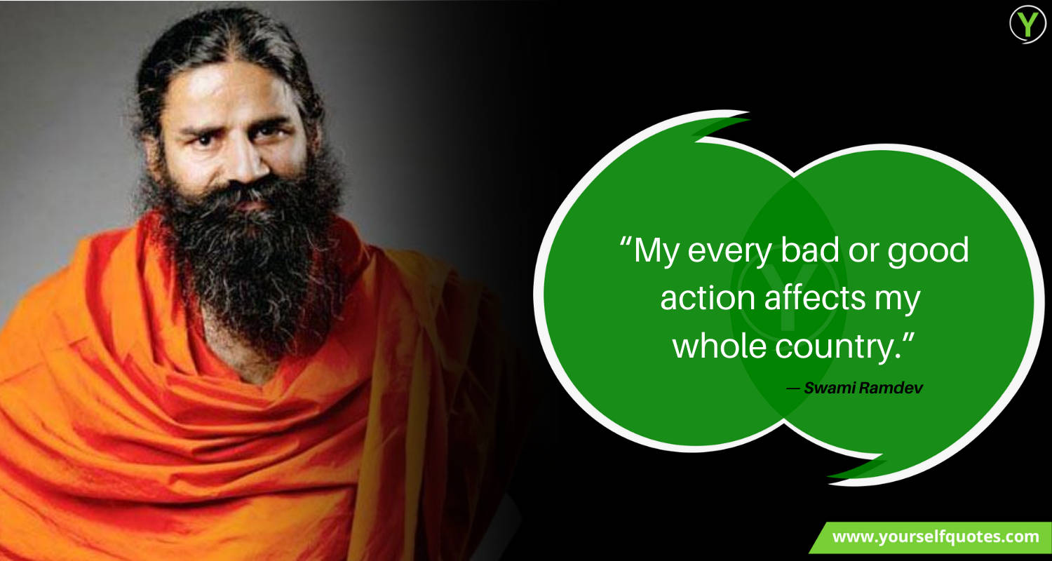 Swami Baba Ramdev Quotes Sayings Thoughts
