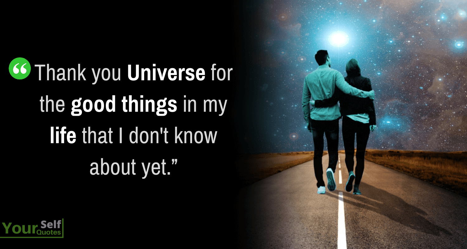 Thankful Universe Quotes