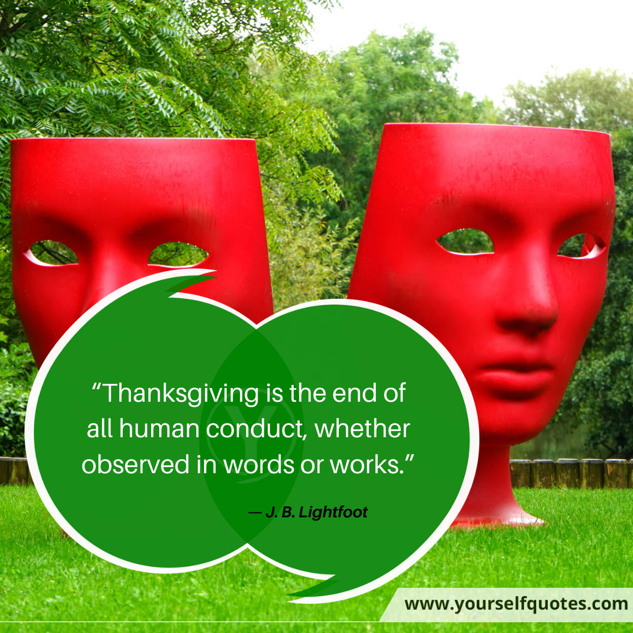 Thanksgiving Quotes by J. B. Lightfoot