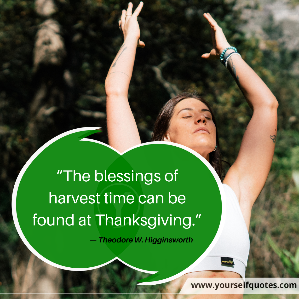 Thanksgiving Quotes by Theodore W. Higginsworth