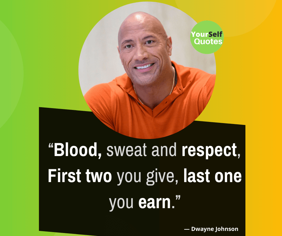 Top Motivational Quotes by Dwayne Johnson
