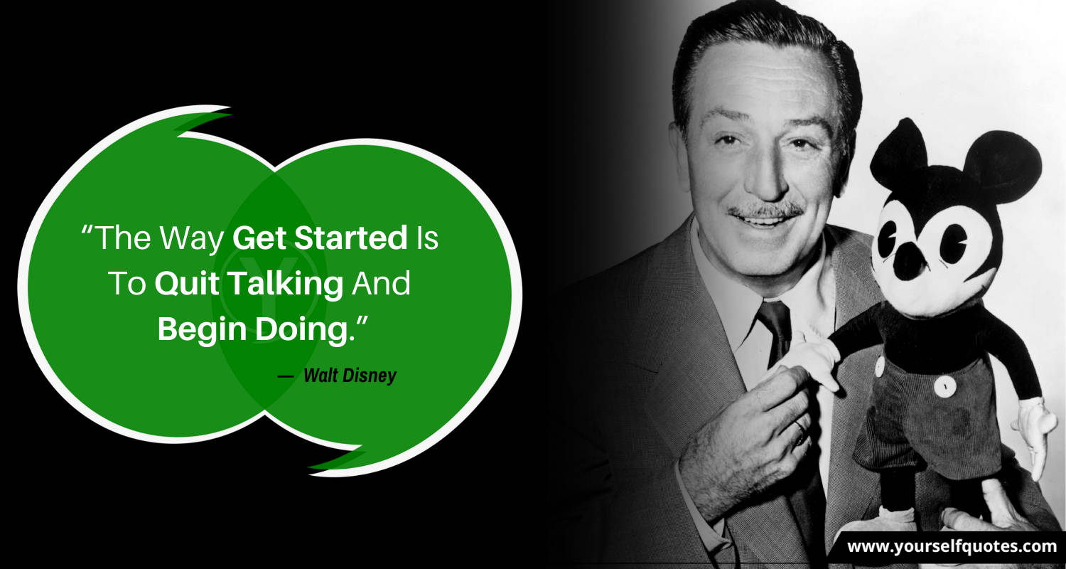 Wisdom Quotes by Walt Disney