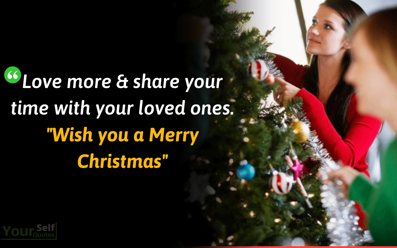 Wish you a Merry Christmas Quotes Images
