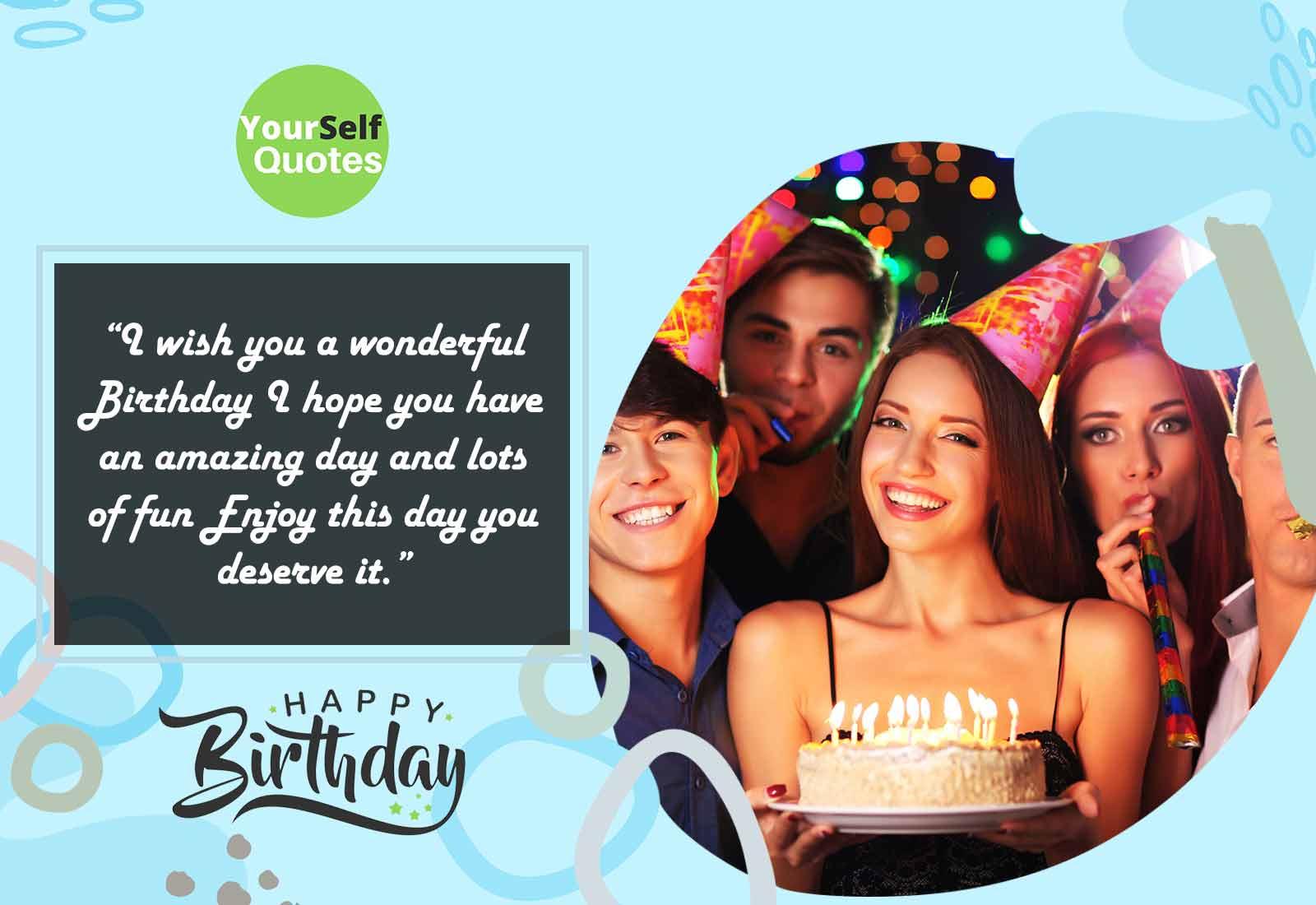 Wishing a Very Happy Birthday