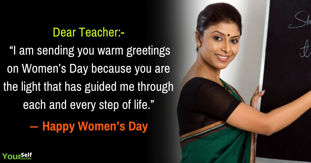 Womens Day Wishes for Teachers